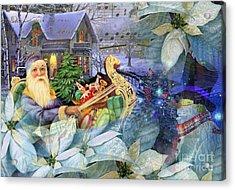 Santa In Blue Acrylic Print