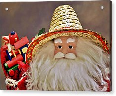 Santa Is A Gardener Acrylic Print by Christine Till
