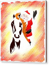 Santa Is Coming To Town Acrylic Print by Mark Schutter