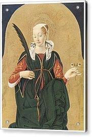 Santa Lucia Acrylic Print by Francesco Del Cossa