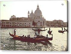 Acrylic Print featuring the photograph Santa Maria Della Salute Grand Canal Venice by Tom Wurl