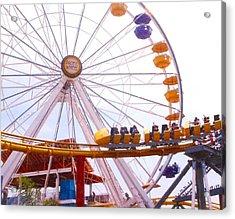 Santa Monica Pier II Acrylic Print by Rust Dill