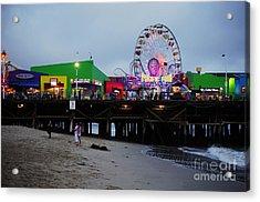 Santa Monica Pier May 12 2012 Acrylic Print by Clayton Bruster