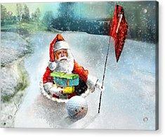 Santas Hole In One Acrylic Print
