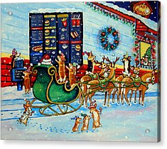 Santa's Pit Stop On  December 24th Acrylic Print