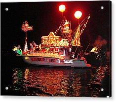 Santa's Sleigh Boat Acrylic Print