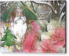 Santa's Snow Garden Acrylic Print