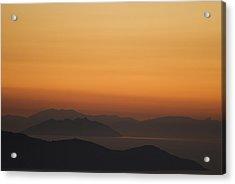 Santo Stefano Coastline At Sunset Acrylic Print by Axiom Photographic
