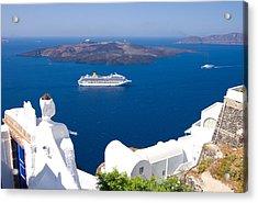 Santorini Cruising Acrylic Print