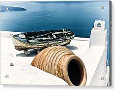 Santorini Still Life Acrylic Print by Scott Massey