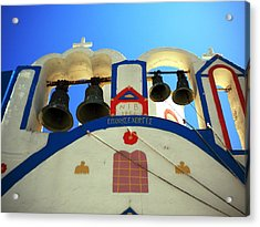 Acrylic Print featuring the photograph Santorini Thirasia Island Greece by Colette V Hera  Guggenheim