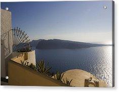 Acrylic Print featuring the photograph Santorini View by Leslie Leda