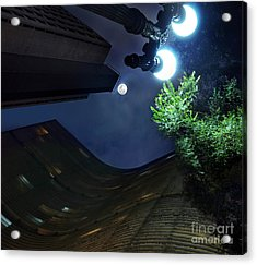 Copan Building And The Moonlight Acrylic Print