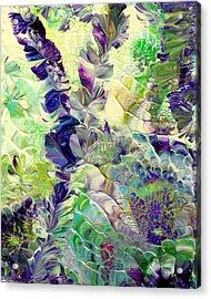 Sapphire Violet Acrylic Print by Nan Bilden
