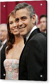 Sarah Larson And George Clooney Acrylic Print by Everett