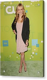 Sarah Michelle Gellar Wearing A Rebecca Acrylic Print by Everett