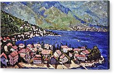 Sardinia On The Blue Mediterranean Sea Acrylic Print by Rita Brown