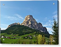 Sassongher Tirol Northern Italy Acrylic Print by Charles Lupica