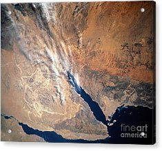 Satellite Image Of Land Acrylic Print by Stocktrek Images