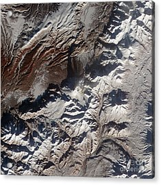 Satellite Image Of Russias Kizimen Acrylic Print by Stocktrek Images