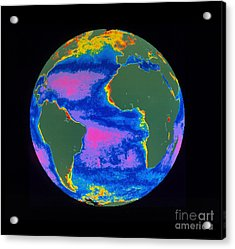 Satellite Image Of The Atlantic Ocean Acrylic Print by Dr. Gene Feldman, NASA Goddard Space Flight Center