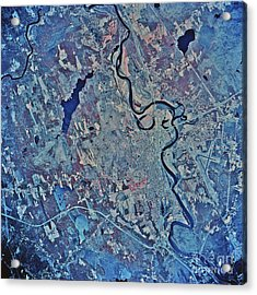 Satellite View Of Concord, New Acrylic Print by Stocktrek Images