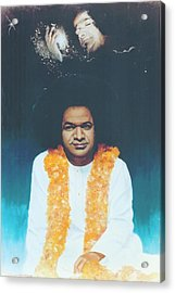 Sathya Sai Baba Divine Acrylic Print by Anne Provost