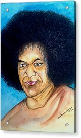 Sathya Sai Baba Acrylic Print by Jaiteg Singh