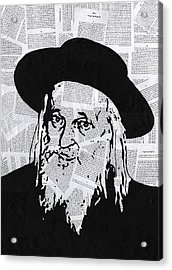 Satmar Rebbe Acrylic Print by Anshie Kagan