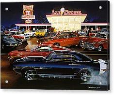Saturday Night 1970 Acrylic Print by Bruce Kaiser