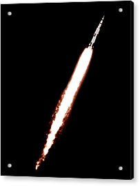 Saturn 5 Test Launch Acrylic Print by Nasa