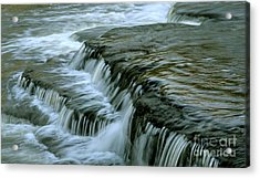 Sauble Falls Closeup Acrylic Print by Chris Hill