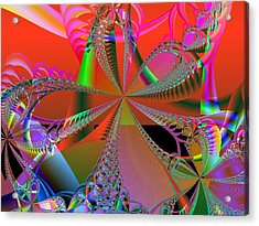 Acrylic Print featuring the digital art Saucy Bows by Ann Peck