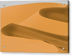 Saudi Sand Dune Acrylic Print by Universal Stopping Point Photography