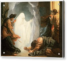 Saul And The Witch Of Endor Acrylic Print by Benjamin West