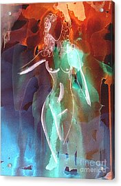 Acrylic Print featuring the painting Saunter by Julie Lueders