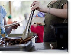 Acrylic Print featuring the photograph Sausage Sizzle by Carole Hinding