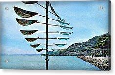 Sausalito Coast Acrylic Print by Joan  Minchak