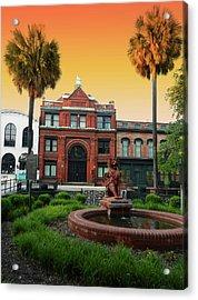 Acrylic Print featuring the photograph Savannah Cotton Exchange by Paul Mashburn