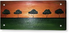 Savannah Sunset Acrylic Print by Edwin Alverio