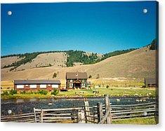 Sawtooth Mountains Campsite Acrylic Print by Douglas Barnett
