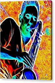 Sax Acrylic Print by Stephen Younts