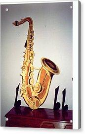 Saxaphone Acrylic Print by Val Oconnor