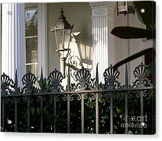 Acrylic Print featuring the photograph Scallop Fence by Jeanne  Woods