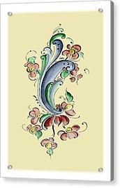 Scandinavian Flower II Acrylic Print by Judy Dodds