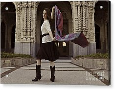 Acrylic Print featuring the photograph Scarf Wrap by Sherry Davis