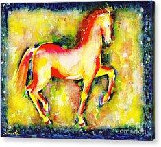 Scarlet Beauty Acrylic Print