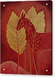 Acrylic Print featuring the painting Scarlet Dream by Tone Aanderaa