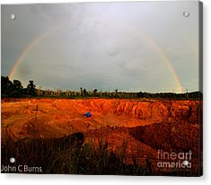Acrylic Print featuring the photograph Scarlet Pit by John Burns
