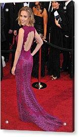 Scarlett Johansson Wearing Dolce & Acrylic Print by Everett
